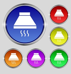 Kitchen hood icon sign Round symbol on bright vector image