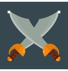 Knife weapon vector image