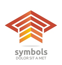 Logo Design Element Arrow Letter Line Icon Symbol vector image