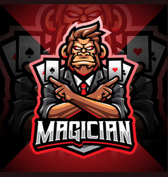 magic monkey esport mascot logo vector image