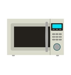 Microwave Icon Card vector