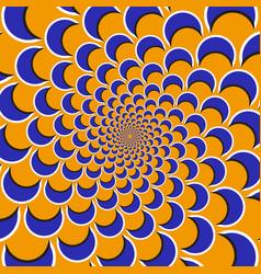 Optical blue shapes vector