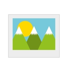 picture isolated icon design vector image vector image