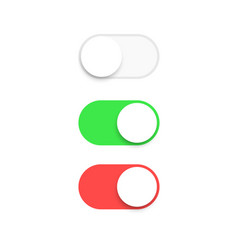 realistic switch toggle buttons set or tree vector image