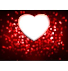 red heart frame eps 8 vector image