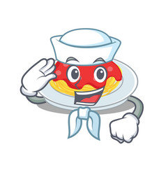 sailor spaghetti character cartoon style vector image
