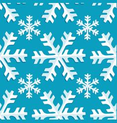 seamless pattern snowflake vector image