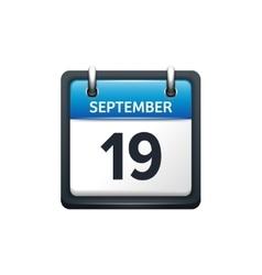 September 19 Calendar icon vector