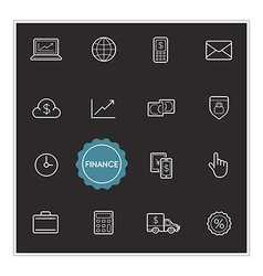 Set of Finance Money Elements can be used as Logo vector image