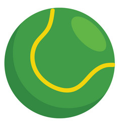 Simple of a green tennis ball on white background vector