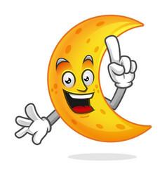 Smart moon mascot clever moon character moon vector