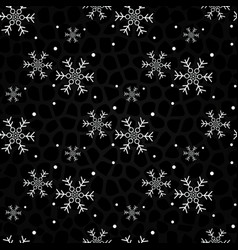 snowflakes on a black background christmas vector image