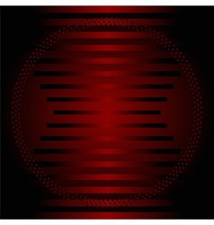 Stripe circle dark red Background vector image