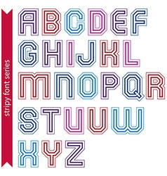 Stripy acute-angled contemporary poster uppercase vector