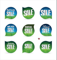 Summer sale retro badge collection 5 vector