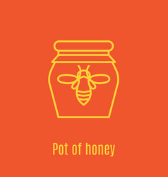 thin line icon pot of honey vector image