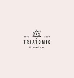 triangle atom logo hipster retro vintage icon vector image