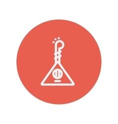 Ukelele thin line icon vector