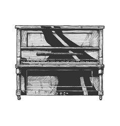Upright piano vector