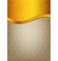 Abstract brown celebration paper with golden vector image vector image