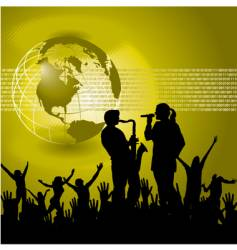 global music background vector image vector image