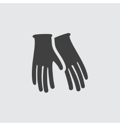 Gloves icon vector image vector image