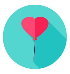 heart balloon circle icon vector image