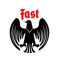 Heraldic black eagle icon vector image vector image