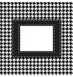 houndtooths fabric pattern with lable vector image