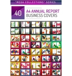 Mega collection of 40 business annual report vector image vector image