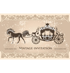 royal carriage vector image vector image