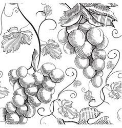 Abstract engraving fruit seamless pattern vector