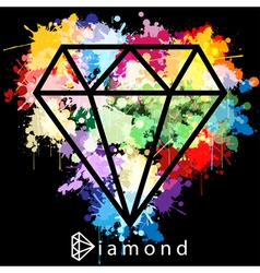 Diamond as background vector image vector image