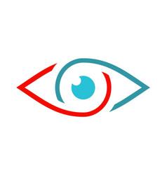 eye vision monitor optic logo vector image