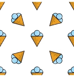 Ice cream flat pattern vector image vector image