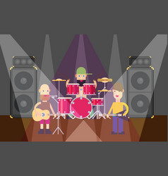 rock band flat vector image