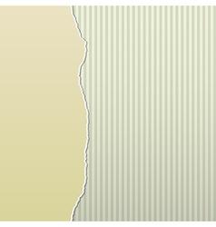 Beige Torn Paper on Stripes Side vector image vector image