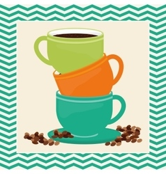Cofee icons design vector image