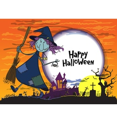 Halloween greeting vector image vector image