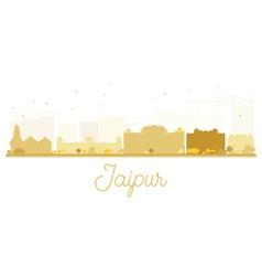 Jaipur City skyline golden silhouette vector image vector image