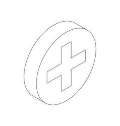 Medical sign icon isometric 3d style vector image