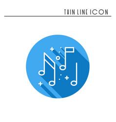 music notes icon disco dance nightlife club vector image vector image