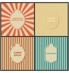 Set of backgrounds with frame vector image vector image