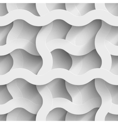 Abstract white paper plexus waves 3d seamless vector image vector image