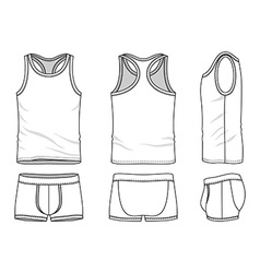Clothing set vector image