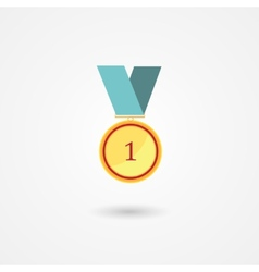 First place gold award medal icon vector image vector image