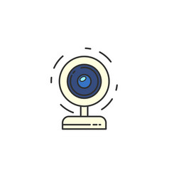 isolated webcam icon web camera flat icon for vector image vector image