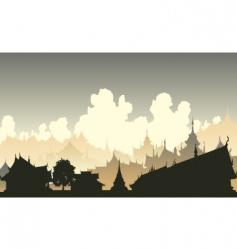 oriental city vector image