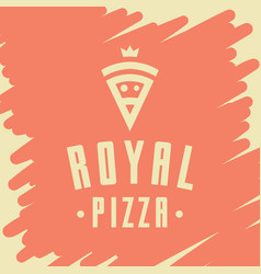 royal pizza style logo icon emblem sign vector image