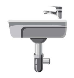 Sink in the bathroom icon cartoon style vector image